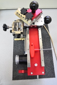 A microtome is used to cut thin sections from tree samples