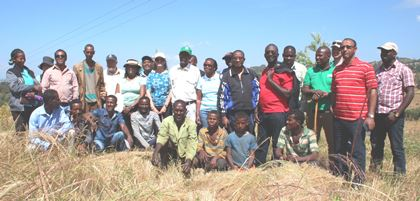 TFS project Mid-Term Review participants pose for a group photo