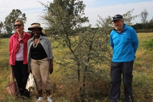 From left: Mellisa Wood, Catherine Muthuri and Tony Bartlett during the MTR field excursion in East Shewa zone